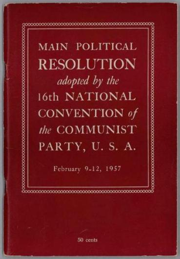 1957 Communist Party Conv Resolutions